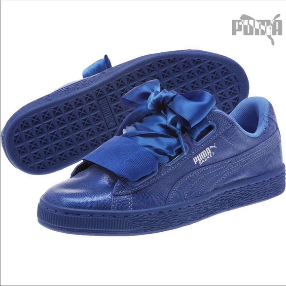 new arrival 3ff08 1ae40 New PUMA Basket Heart Opulence Sneakers
